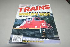 Trains Magazine R November 2002 Texas Commuter Canadian National US Steel Map