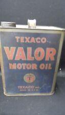 VINTAGE TEXACO VALOR MOTOR OIL CAN ORIGINAL