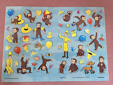 NEW Over 200 Curious George Stickers 4 Sheets of 51 stickers, size: 8.25 x 11.25