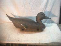 Vintage Duck Mallard  Decoy  Hard Foam Filled Plastic