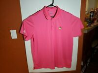 Adidas Golf Masters Augusta Polo Shirt Mens 2XL XXL Bright Pink Polyester