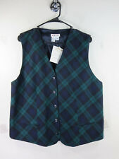 Talbots womens navy black ocean argyle cardigan vest 16 NWT