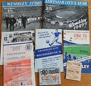 Fantastic 1949 FA Cup Final Leicester City package, Many many extras!!!! 🦊🦊🦊