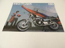 NOS 1983 Nighthawk 450 Honda Dealer Brochure L178