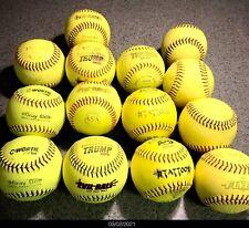 (14)Softballs- Worth, Evil Ball, Ad Starr, Diamond Flyer, Trump Stote (Used)