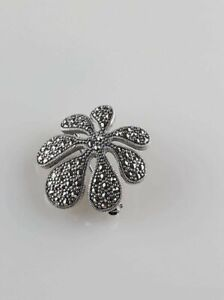tbrc-0048 1pcs sterling silver brooch with marcasite and labradorite