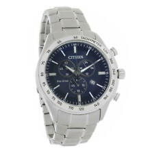 Citizen AT2410-52L Men's Blue Dial Brycen Chronograph Eco-Drive Watch