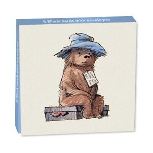 Traditional Paddington Bear Notelets -  8 Classic Artwork Cards with envelopes