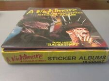 1984  A Nightmare on Elm Street FULL Sticker Album Book Box Plus 4 Albums Sealed