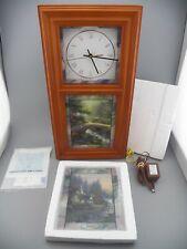 Thomas Kinkade Time for All Seasons Wall Clock by Bradford Exchange Lights Guc