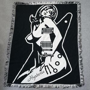 HYSTERIC GLAMOUR rug blanket towel black white novelty