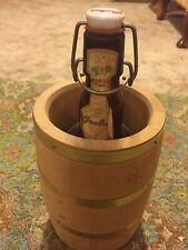 Grolsch Beer Bottle in Wooden Beer Barrel
