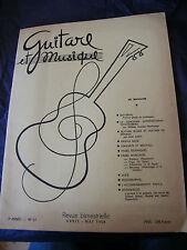 Partition Guitare et Musique Jazz Revue bimestrielle Avril Mai 1958