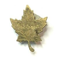Edwardian Victoria British Columbia Maple leaf brooch gold plated 2.5 x 2 cm's