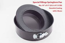 "Round Special Fillings Nonstick Springform Pan 10"" with 2 Bases Bakeware"
