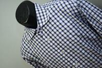36814 Mens Bugatchi Uomo Shaped Fit Plaid Button Up Dress Shirt Size XL