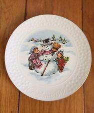 "Avon 1986 A Child's Christmas Porcelain Plate Trimmed 22K Gold Decorative 8"""