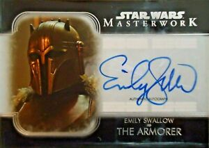 Star Wars Topps 2020 Masterwork Emily Swallow THE ARMORER Autograph Card