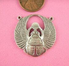 Antique Silver 2 Ringed Winged Scarab-1 Pc(s)