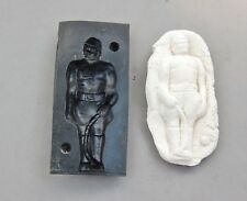 """Rubber Mold Soldier Toy Cookie Candy Soap Vintage 4 5/8"""" x 2 1/8"""" Only  Front"""