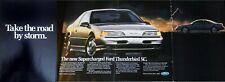 1989 Ford Thunderbird SC Supercharged Original Magazine Advertisement