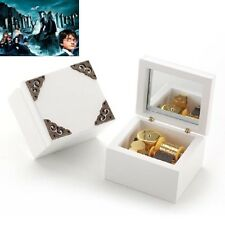 { Harry Potter Hedwigs Soundtrack} Vintage  White Wooden Music Box