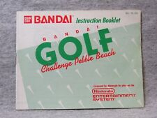 "Bandai ""Golf Challenge Pebble Beach"" manual - no game .... NES Nintendo"