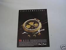 advertising Pubblicità 1989 OROLOGIO PAUL PICOT U-BOOT