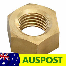 Aus3D - Four 5mm M5 Brass Hex Nuts for Z Axis 3D Printer RepRap Prusa Mendel