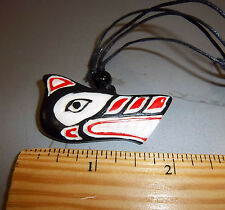 - Totmeic Wolf, unique! Nice design! Hand Carved Pendant on choker Necklace