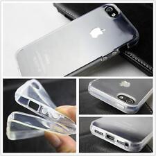 Silikon Schutzhülle für iPhone 5 5S Crystal Clear Case Cover +Gratis Panzerfolie