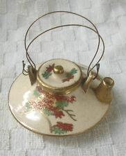 19th century  Miniature Japanese Gilt Satsuma Porcelain  Teapot
