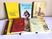 Vtg Mixed Lot Of 10 Community Church Organization Spiral Cookbooks 1950s-1990s