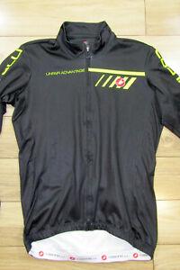 Black CASTELLI Unfair Advantage Full Zip Long Sleeves Cycling Jersey Top Sz L