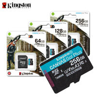 Kingston 64GB 128GB 256GB Canvas Go! Plus A2 UHS-I U3 microSDXC Memory Card