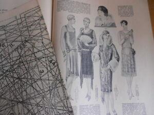 Vintage Modeheft 14/1928 Vobachs Familienhilfe mit Schnittmusterbogen