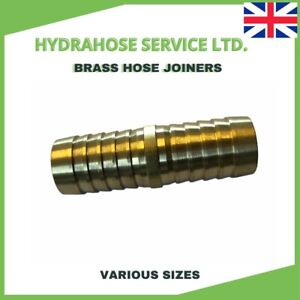 BRASS HOSE JOINER Mender suitable for Fuel Water Air Gas (VARIOUS SIZE)