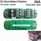 3S 20A PCB BMS Protection Board for 3 Packs 18650 Li-ion Lithium Battery Cell HT
