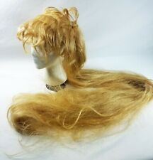 DELUXE 1960/'s 1970/'s EXTRA LONG BLONDE HIPPIE COSTUME WIG GODIVA MEDIEVAL