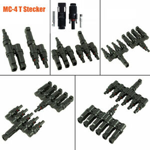 MC-4 T 2~6 Branch Solar Panel PV Cable Photovoltaic Male Female / MC-4 Connector