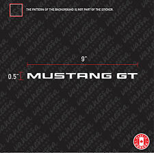 2x FORD MUSTANG GT sticker vinyl decal