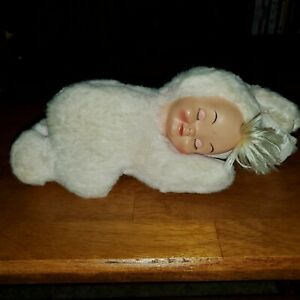 """Vintage Gund Bunny Suit Baby Rubber Face 10"""" Clean Fast Shipping!!"""