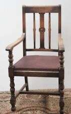 Oak Armchairs Victorian Chairs (1837-1901)