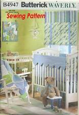 BUTTERICK SEWING PATTERN 4947 BABY COT SHEET, QUILT BUMPERS BASKET LINERS, BLIND