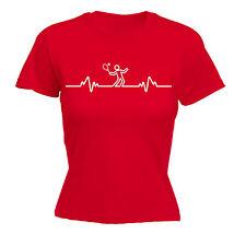 Tennis Heart Beat Pulse WOMENS T-SHIRT Accessories Racquet Funny Gift birthday