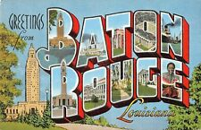Large Letter postcard Greetings from Baton Rouge Louisiana LA