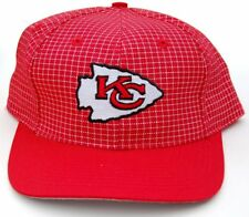 NFL Kansas City Chiefs Red Plaid Logo 7 Snapback Cap Hat