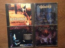 ENTOMBED [4 cd albums] clandestine (EARACHE 1991) + Hollowman + Left Hand Path +