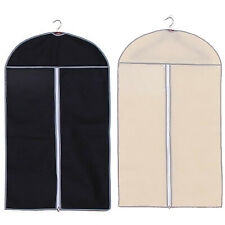 BREATHABLE ZIP UP HANGING SUIT DRESS COAT GARMENT BAG CLOTHES COVER DUSTPROOF