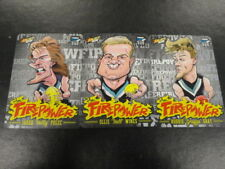 2015 AFL CHAMPIONS FIREPOWER CARICTURE CARD TEAM SET OF 3 PORT ADELAIDE